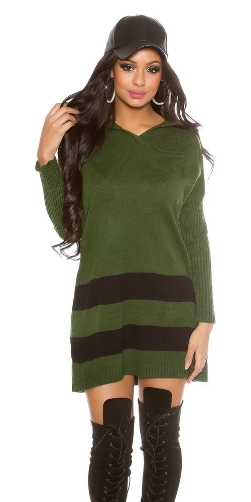 5e9b01ef8583 Trendy dlhší sveter s kapucňou - Koucla - Dlhé svetre k legínam - vasa ...