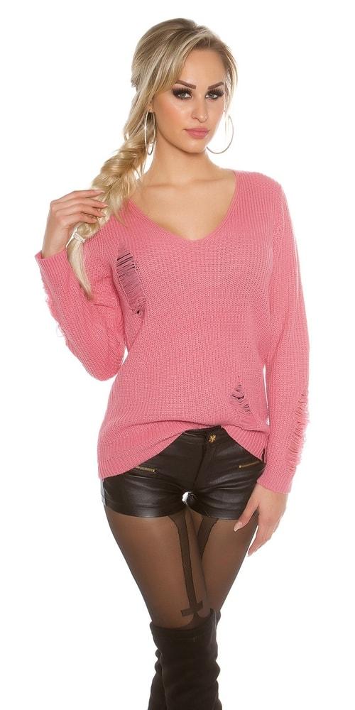e0e468b79283 Dámsky extravagantný sveter-ružový - Koucla - Dámske svetre - vasa ...