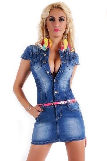 c5bbdac79 Dámske džínsové šaty - EU - Krátke letné šaty - vasa-moda.sk