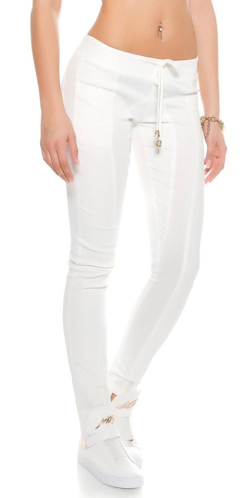 cac8115c02 Biele dámske nohavice - Koucla - Dámske nohavice - vasa-moda.sk