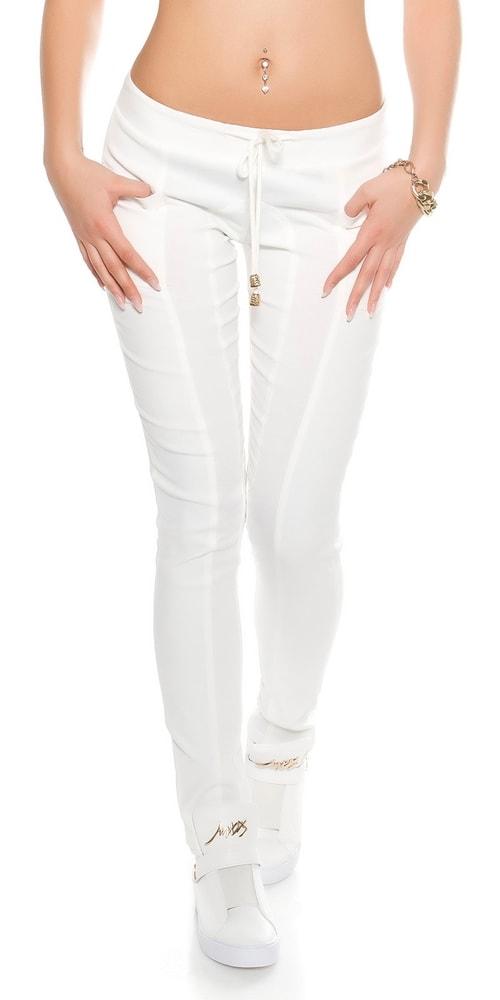 f14f48125852 Biele dámske nohavice - Koucla - Dámske nohavice - vasa-moda.sk