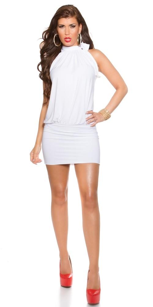 57aecaeb1697 Bílé dámské minišaty - Koucla - Krátké letní šaty - i-moda.cz