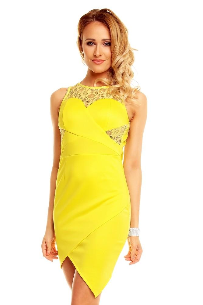 ccaae69f44b5 Žlté dámske šaty - Graffith - Večerné šaty a koktejlové šaty - vasa ...