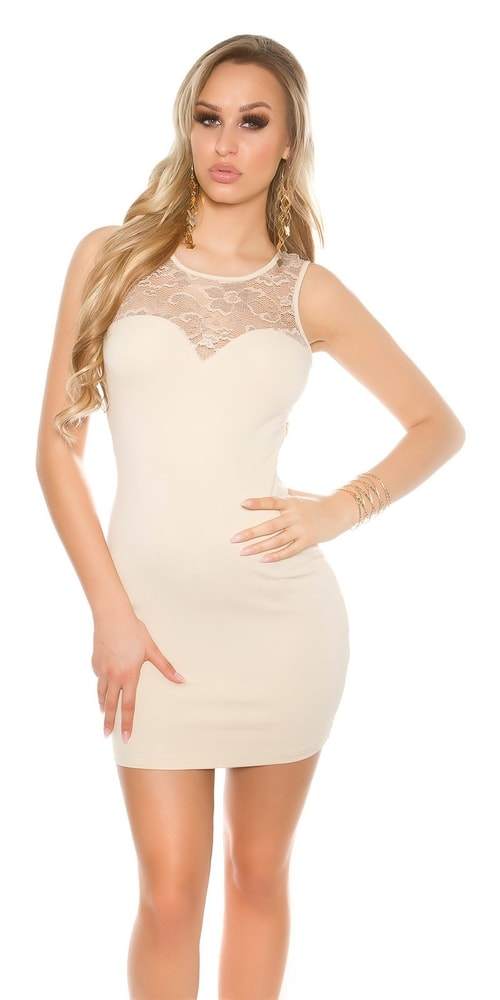 d90b18c07558 Dámske mini šaty s čipkou - Koucla - Večerné šaty a koktejlové šaty ...