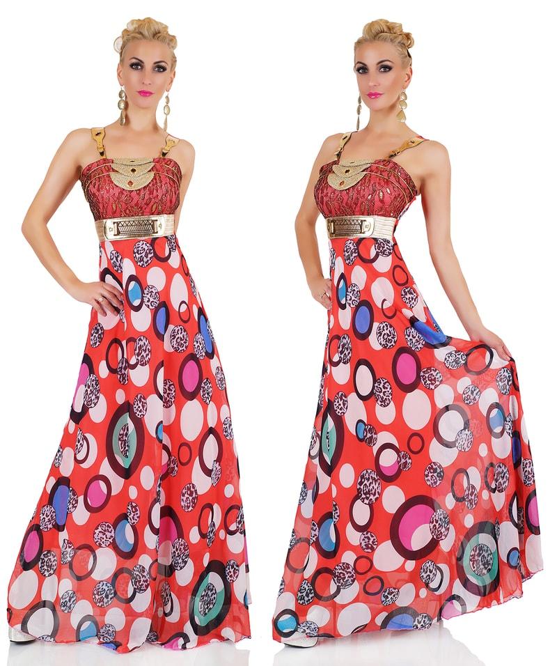 214e89502eeb Extravagantné dámske šaty - červené - EU - Večerné šaty a koktejlové ...