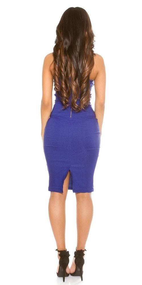cb3876e0e171 Puzdrové šaty modré - Koucla - Večerné šaty a koktejlové šaty - vasa ...