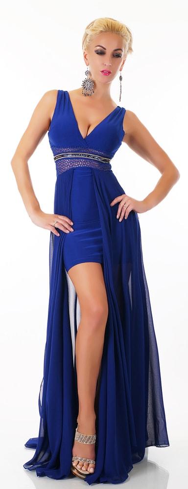 23ed369d4246 Plesové šaty - modré - EU - Krátke plesové šaty - vasa-moda.sk