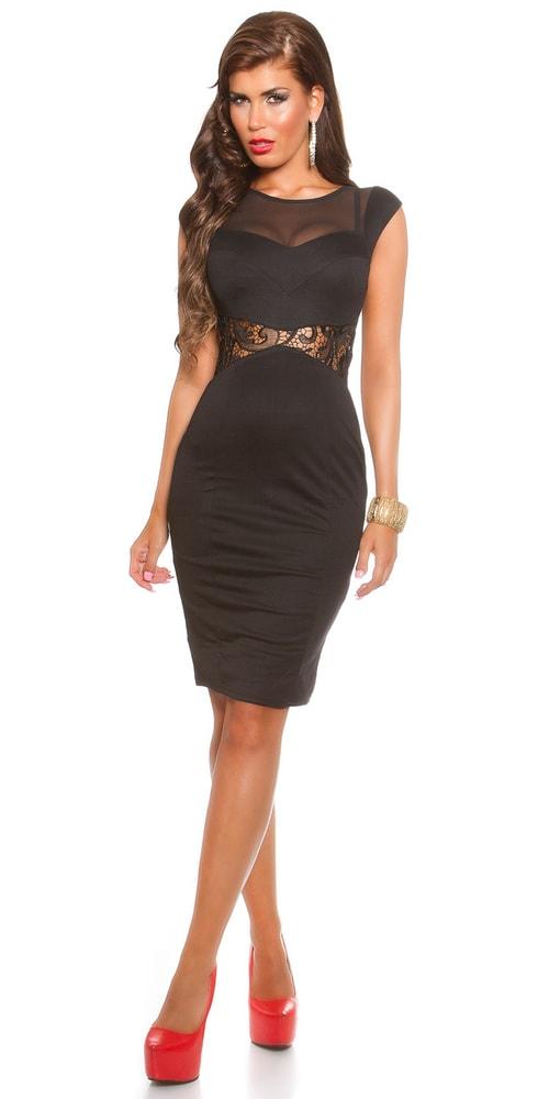 9759d2ec9 Dámske elegantné čierne šaty - Koucla - Večerné šaty a koktejlové ...