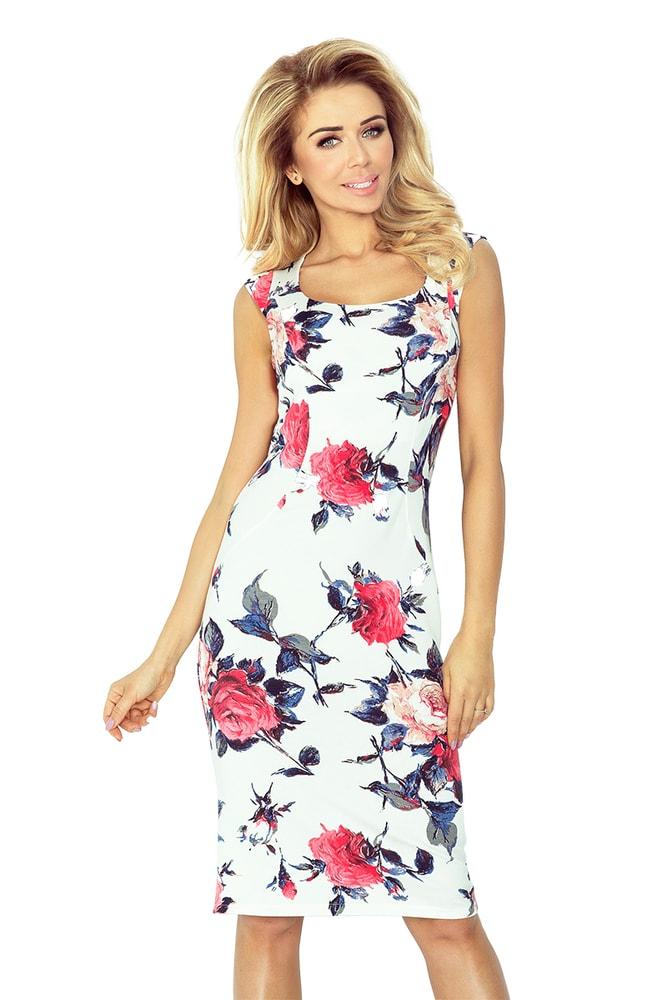 f000728c3e47 Letné šaty s kvetinovým motívom - Numoco - Večerné šaty a ...