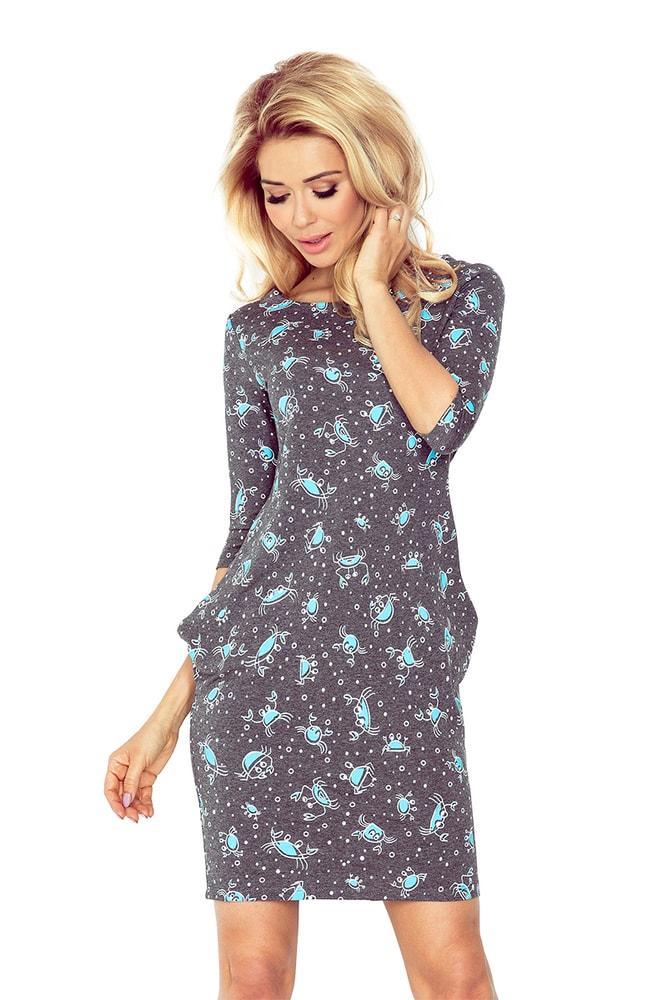 7f8e6b682147 Dámske šaty s potlačou 40-13 - Numoco - Šaty pre voľný čas - vasa ...