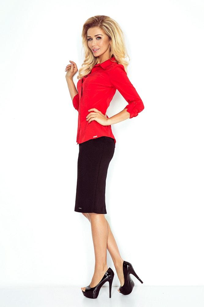 f23846b1dde1 Červená dámska košeľa MM 017-1 - morimia - Dámske košele - vasa-moda.sk