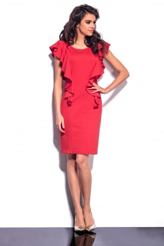 2dcfab1345c1 Elegantné šaty s volánmi - Lemoniade - Business šaty - vasa-moda.sk