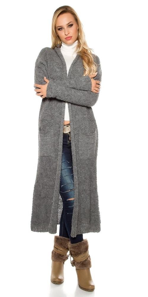 edbeca495719 Dlhý dámsky mohérový sveter - Koucla - Cardigany dámske - vasa-moda.sk