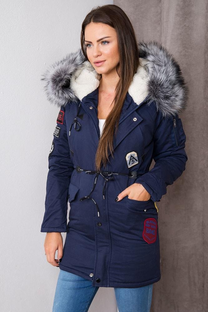 ac83071f7 Dámska zimná bunda s kapucňou - Kesi - Bundy dámske zimné - vasa-moda.sk