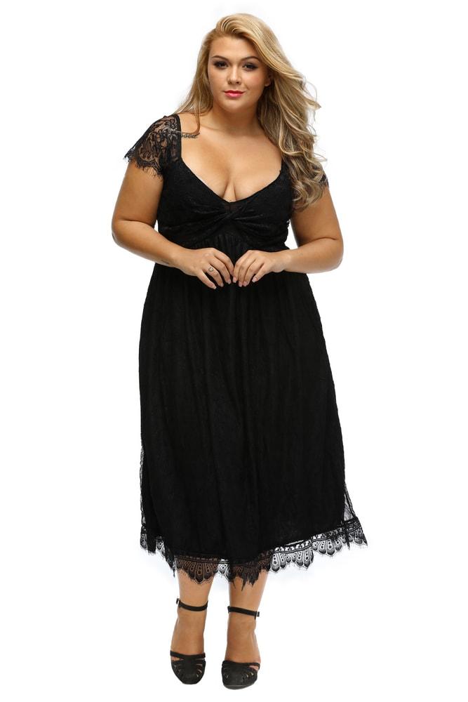 e10100022fcf Dámske šaty XXL - DAMSON - Spoločenské šaty pre plnoštíhle - vasa ...