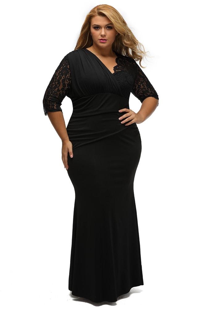eb53bcff88e7 Plesové šaty XXL - DAMSON - Spoločenské šaty pre plnoštíhle - vasa ...