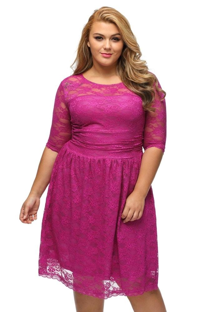fcafc05be0ff Krajkové šaty pro plnoštíhlé - DAMSON - Společenské šaty pro ...