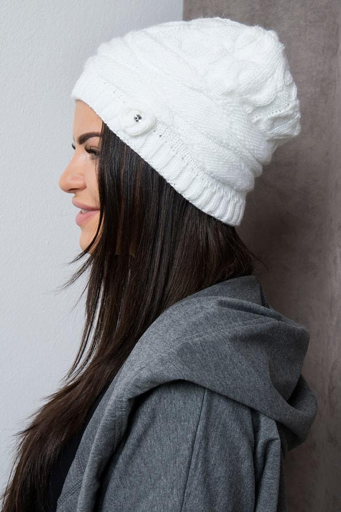 d02e7e80b Biela dámska čiapka - Kesi - Dámske čiapky - vasa-moda.sk