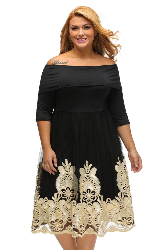 7df3757a2d1e Společenské šaty pro plnoštíhlé - DAMSON - Společenské šaty pro ...