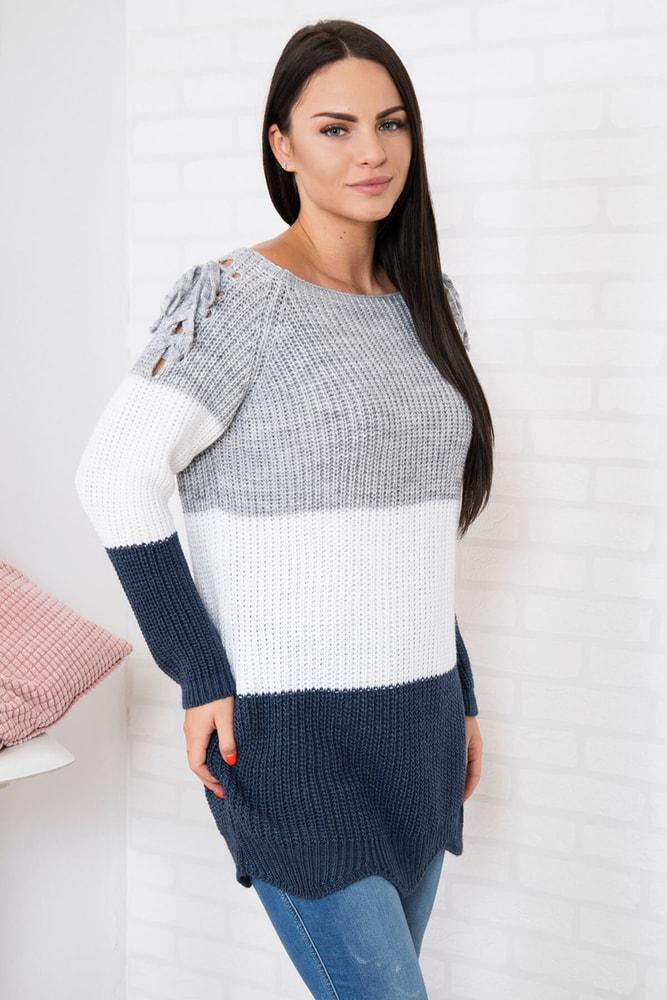 0a46e1a97153 Dlhý dámsky sveter - Kesi - Dlhé svetre k legínam - vasa-moda.sk