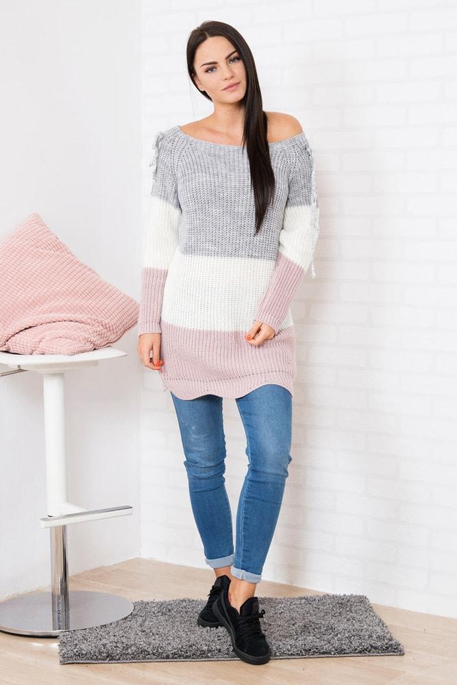 021f5edbfc0d Dlhý dámsky pulóver - Kesi - Dlhé svetre k legínam - vasa-moda.sk