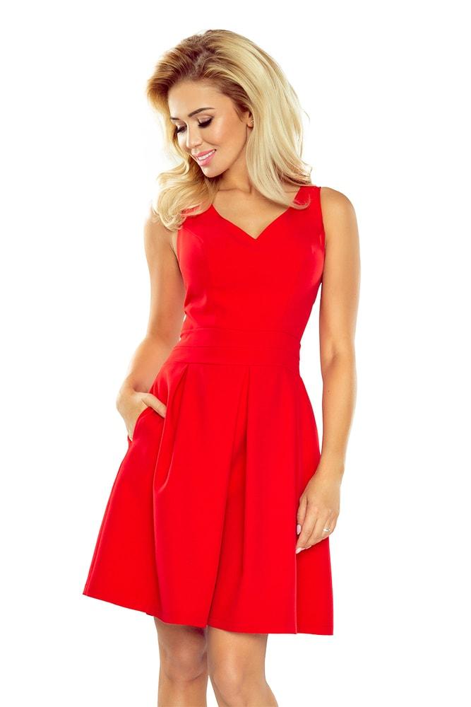 f434a234d07d Červené dámské šaty 160-3 - Numoco - Večerní šaty a koktejlové šaty ...