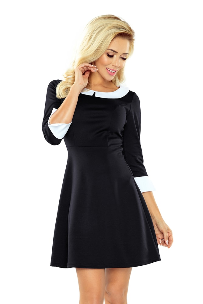 aedac3db2fae Dámske elegantné šaty s golierom - Numoco - Business šaty - vasa ...