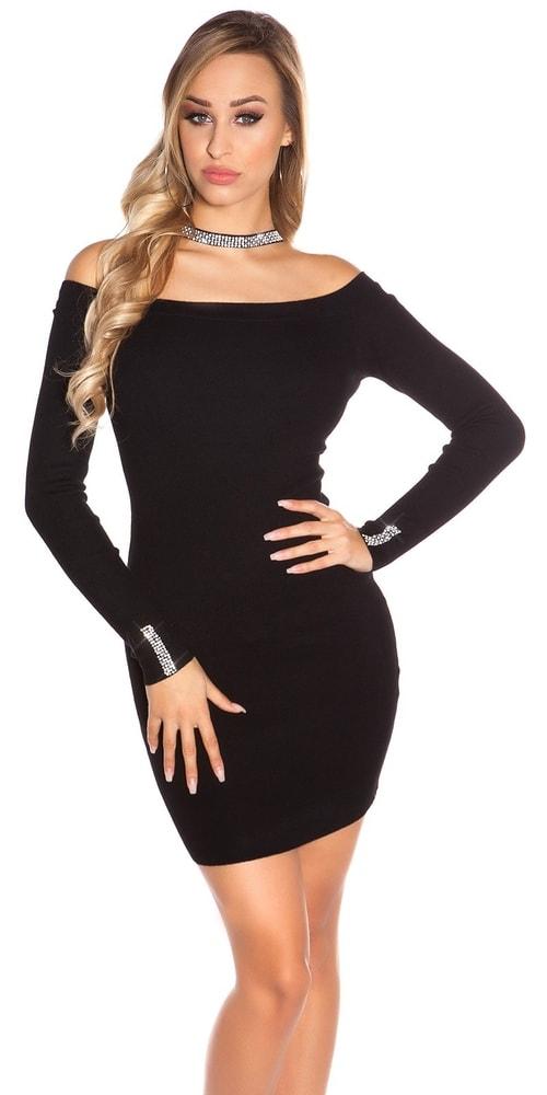 e41e071a821a Čierne úpletové šaty - Koucla - Úpletové šaty - vasa-moda.sk