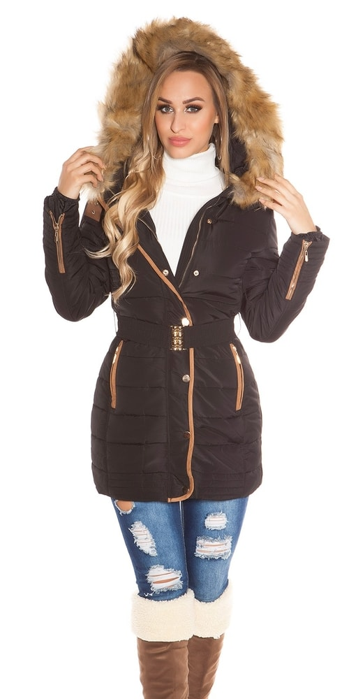 0885f48f4b Dámska zimná bunda s kapucňou - Bundy dámske zimné - vasa ...