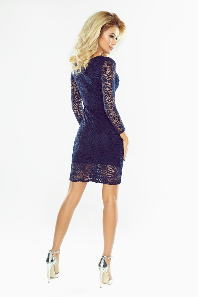 482afc7f156e Modré čipkované šaty - Numoco - Večerné šaty a koktejlové šaty ...