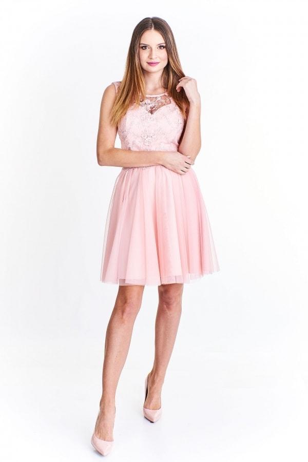 b3b9bdd7a217 Šaty na ples krátké růžové - Ptakmoda - Krátke plesové šaty - vasa ...