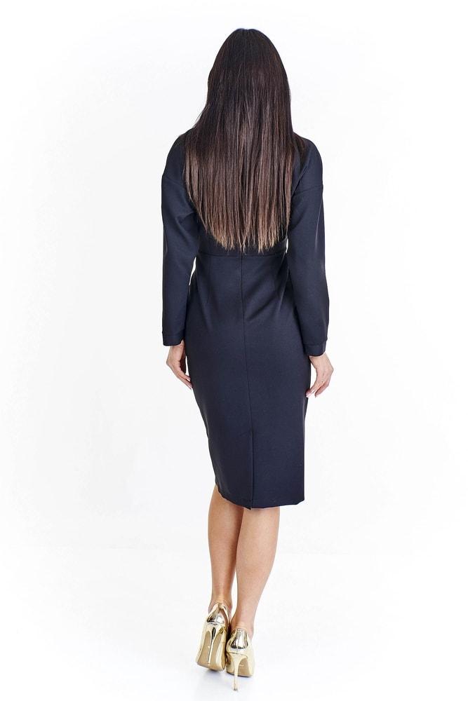 5b6f8f240830 Čierne zavinovacie šaty - Ptakmoda - Business šaty - vasa-moda.sk