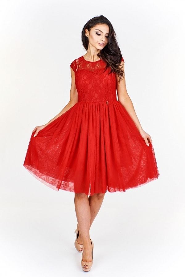 0c8b98ef7488 Červené společenské šaty - Ptakmoda - Krátké plesové šaty - i-moda.cz