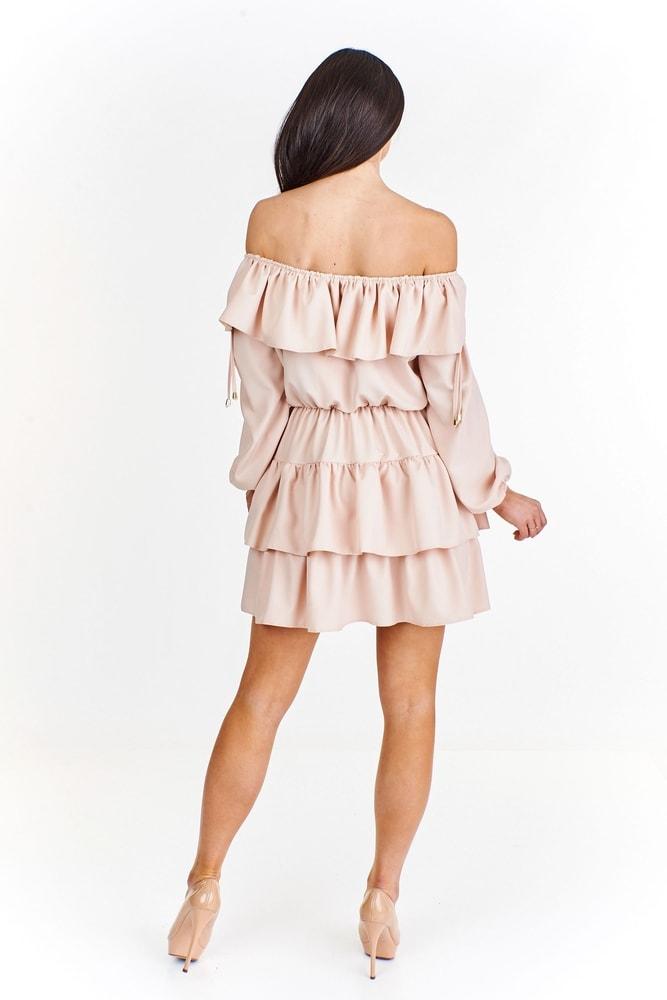 9b6b1b04ae9e Dámske volánikové šaty - Ptakmoda - Večerné šaty a koktejlové šaty ...