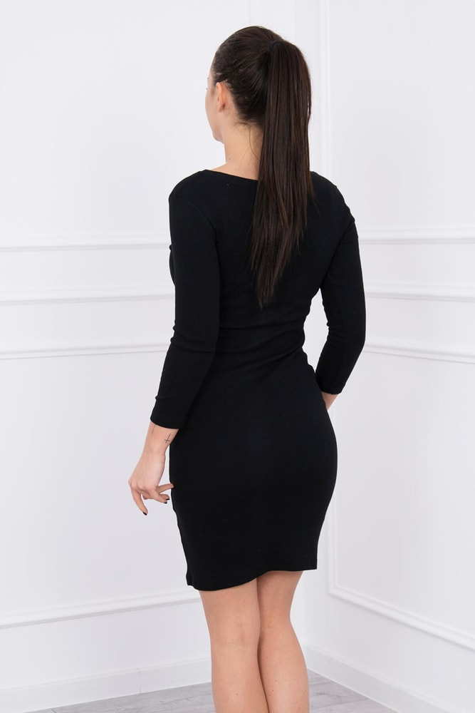 66e677aedb37 Černé elastické šaty - Kesi - Denní šaty - i-moda.cz