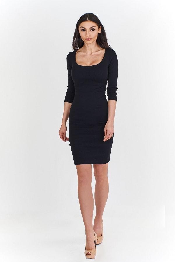 dfae5f023 Dámske čierne šaty - Ptakmoda - Šaty pre voľný čas - vasa-moda.sk