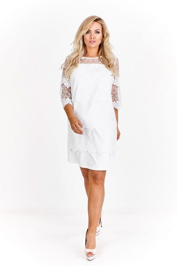 7130185129de Dámské elegantní šaty s krajkou - Ptakmoda - Spoločenské šaty pre ...