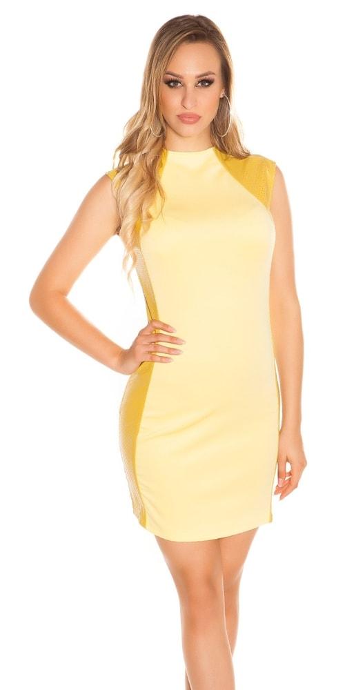 a17ddc26c Dámske žlté mini šaty - Koucla - Párty šaty - vasa-moda.sk