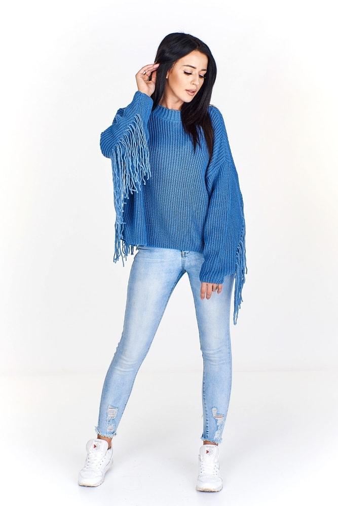b1754fcdade7 Dámsky sveter so strapcami - Ptakmoda - Dámske svetre - vasa-moda.sk