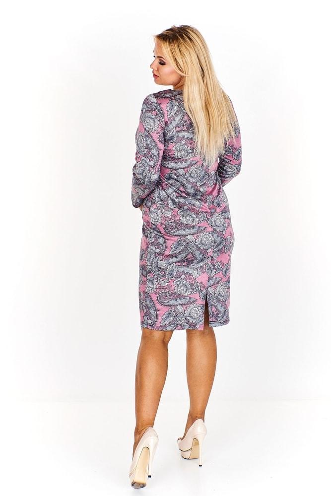 4176cc1e4830 Dámske vzorované šaty - Ptakmoda - Denné šaty pre plnoštíhle - vasa ...