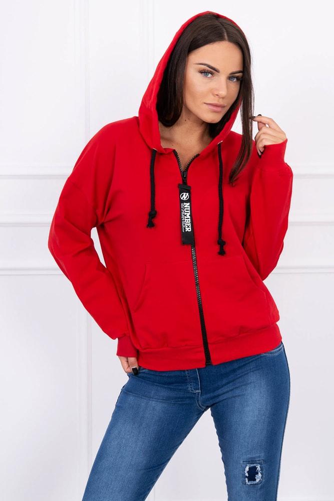 a5871c3442a5 Červená mikina s kapucňou - Kesi - Dámske mikiny krátke - vasa ...