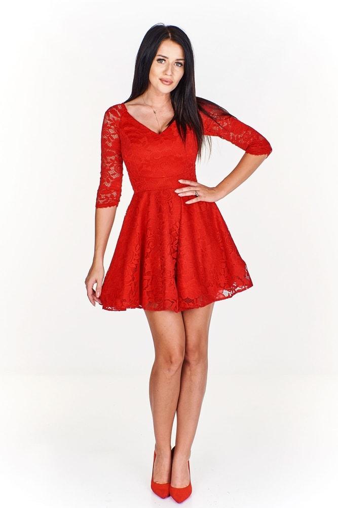 14c7fac57485 Spoločenské červené šaty - Ptakmoda - Večerné šaty a koktejlové šaty ...