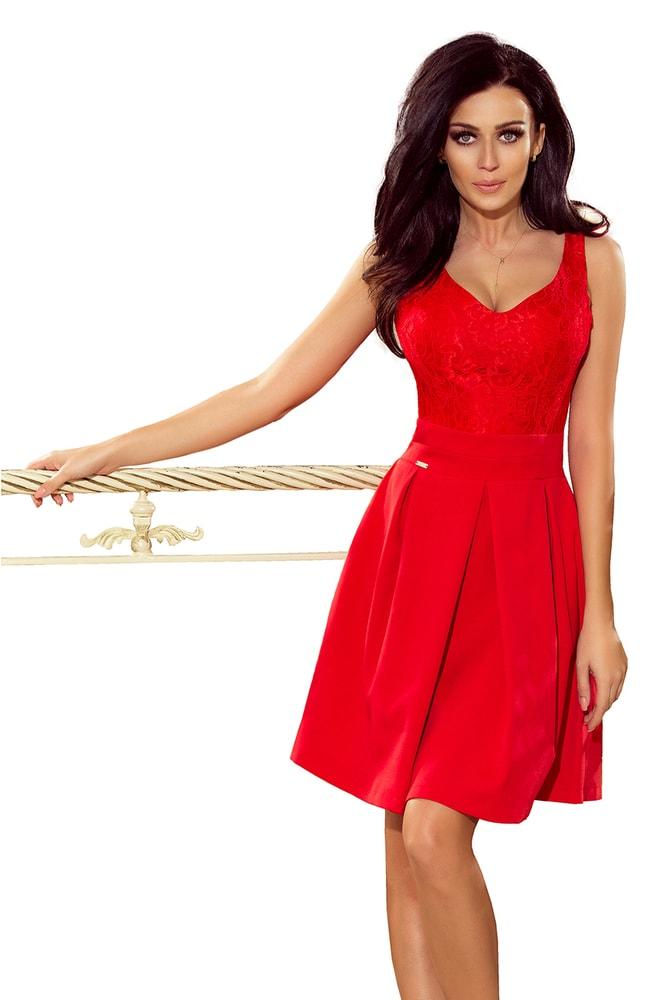 974262b11363a Červené spoločenské šaty - Numoco - Večerné šaty a koktejlové šaty ...