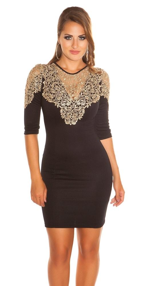 170626a1c Puzdrové šaty čierne - Koucla - Večerné šaty a koktejlové šaty - vasa ...