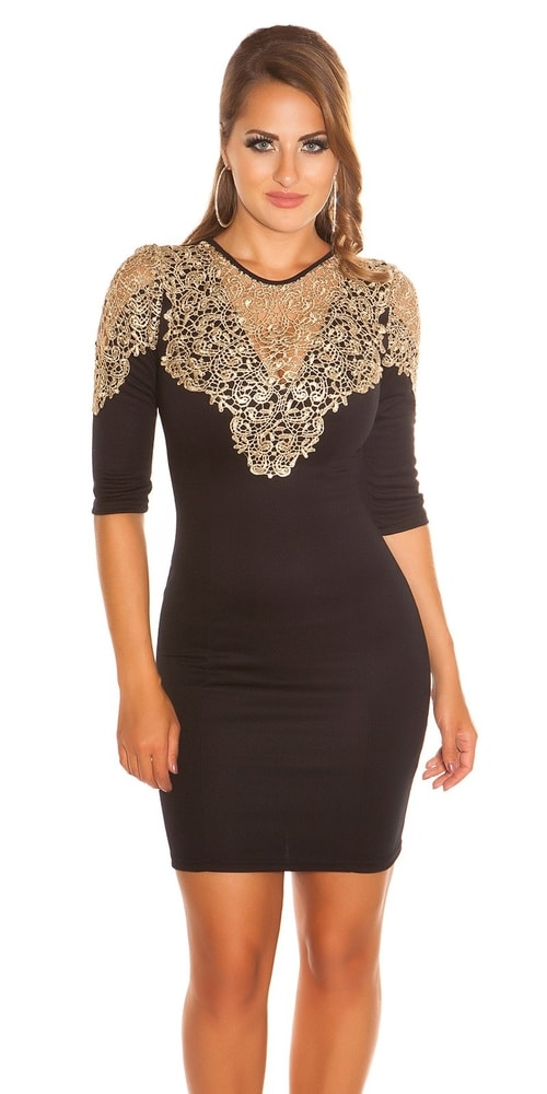 3fb2f657175a Puzdrové šaty čierne - Koucla - Večerné šaty a koktejlové šaty - vasa ...