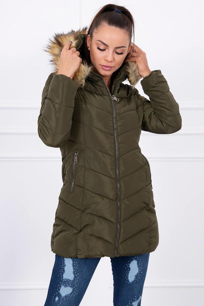 52a5bd1d874c Zimná bunda s kapucňou - Kesi - Bundy dámske zimné - vasa-moda.sk