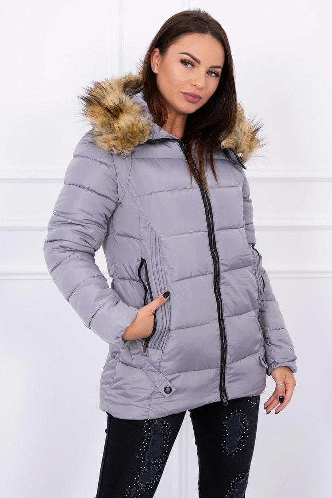a5a7a295d7 Dámska zimná bunda s kapucňou - Kesi - Bundy dámske zimné - vasa ...