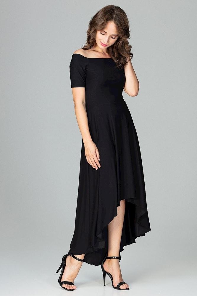 66c9ba71dd7a Čierne elegantné šaty - Ptakmoda - Dlhé spoločenské šaty - vasa ...