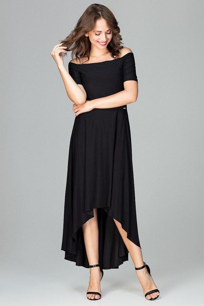 d33295a5c958 Čierne elegantné šaty - Ptakmoda - Dlhé spoločenské šaty - vasa-moda.sk