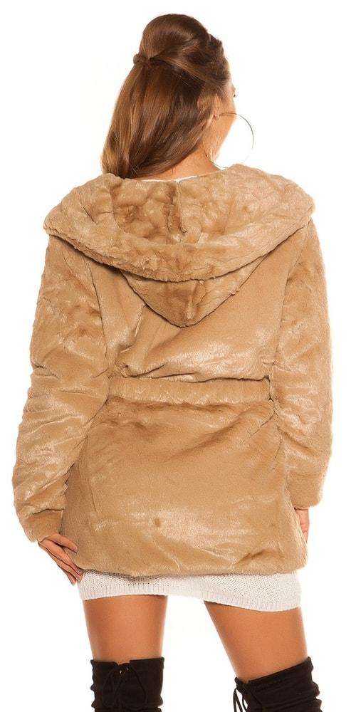 d22c57c69c17 Plyšová dámska bunda - Koucla - Bundy dámske jarné a jesenné - vasa ...